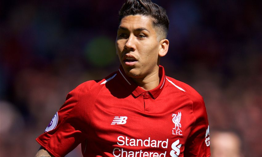 Roberto Firmino of Liverpool in action