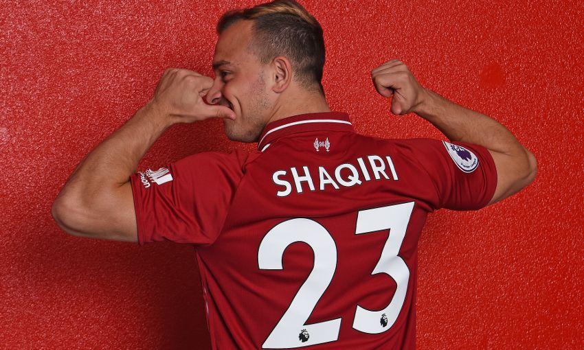 best service de6a5 b49a6 Xherdan Shaqiri's Liverpool squad number confirmed ...