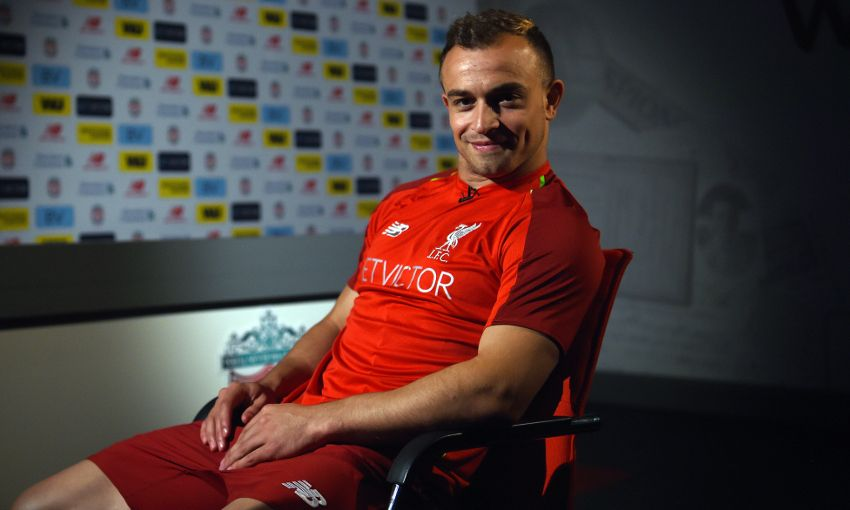 Xherdan Shaqiri signs for Liverpool
