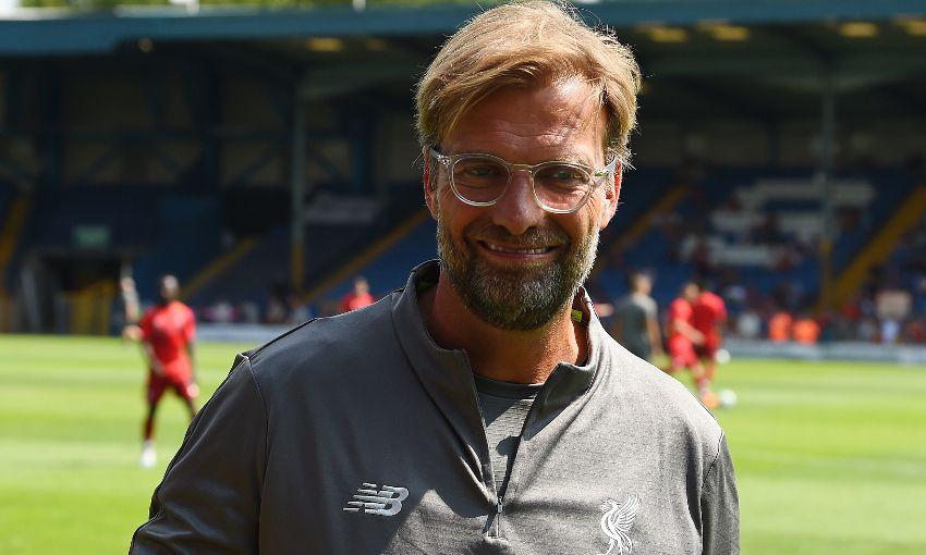 Jürgen Klopp at Liverpool v Bury
