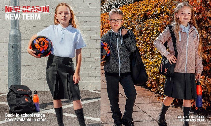 Liverpool FC's Back to School retail range