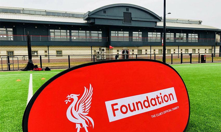 Premier League Primary Stars football finals winners at the Liverpool FC Academy.