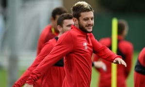Liverpool FC's Adam Lallana training at Melwood