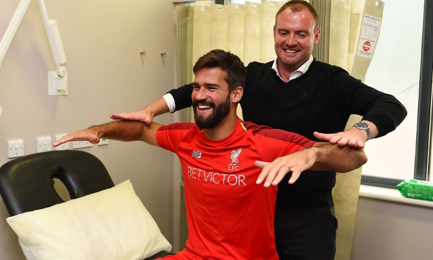 Alisson Becker undergoes his Liverpool FC medical