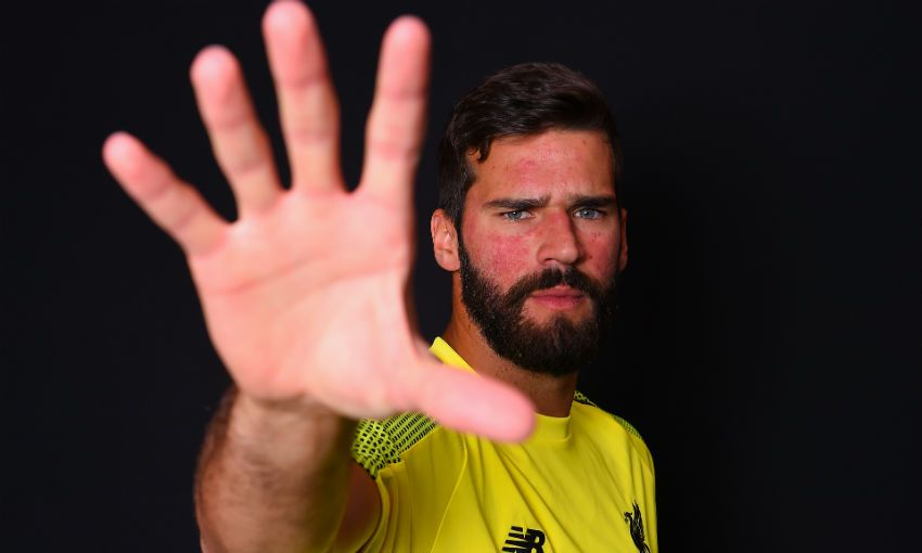 Alisson Becker, Liverpool FC goalkeeper, at Melwood