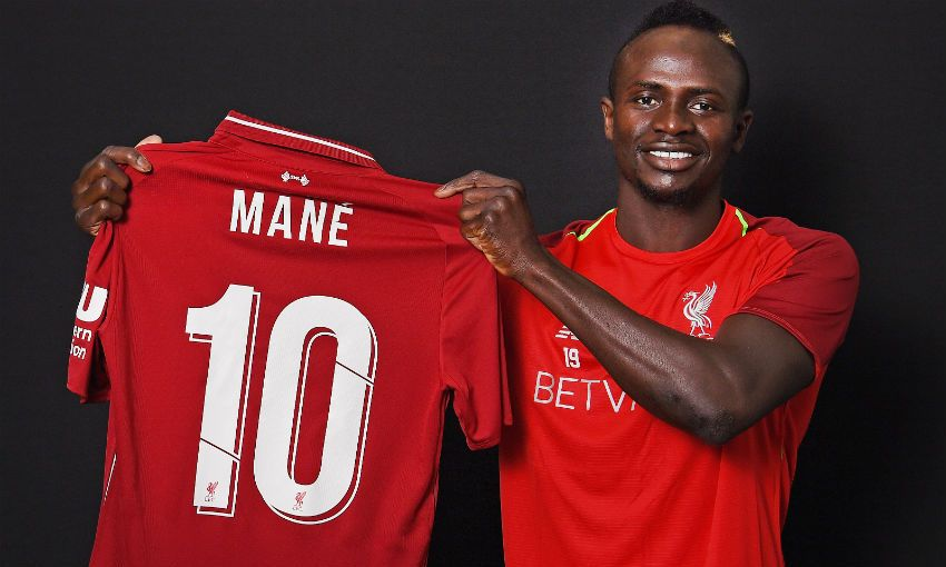 Sadio Mane, Liverpool FC's new No.10