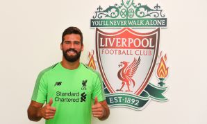 Alisson Becker of Liverpool at Melwood