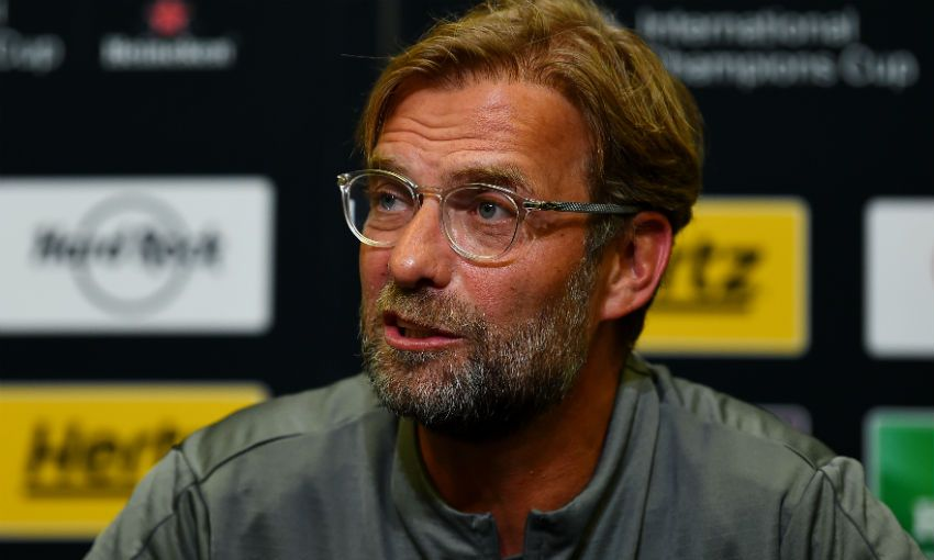 Liverpool FC manager Jürgen Klopp in a press conference