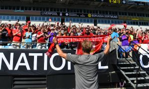 Liverpool train in Charlotte on 2018 tour