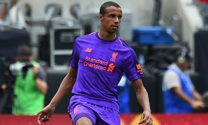 Liverpool's Joel Matip against Borussia Dortmund in the International Champions Cup in Charlotte.