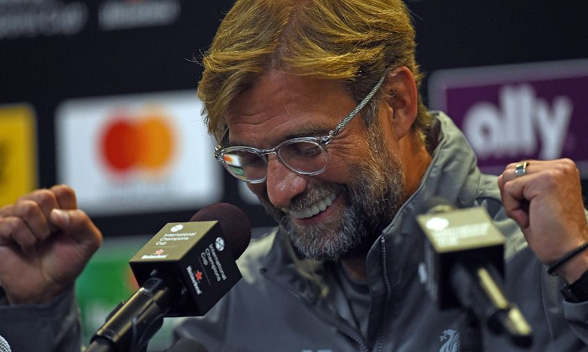Jürgen Klopp at his pre-match press conference in Michigan on July 27