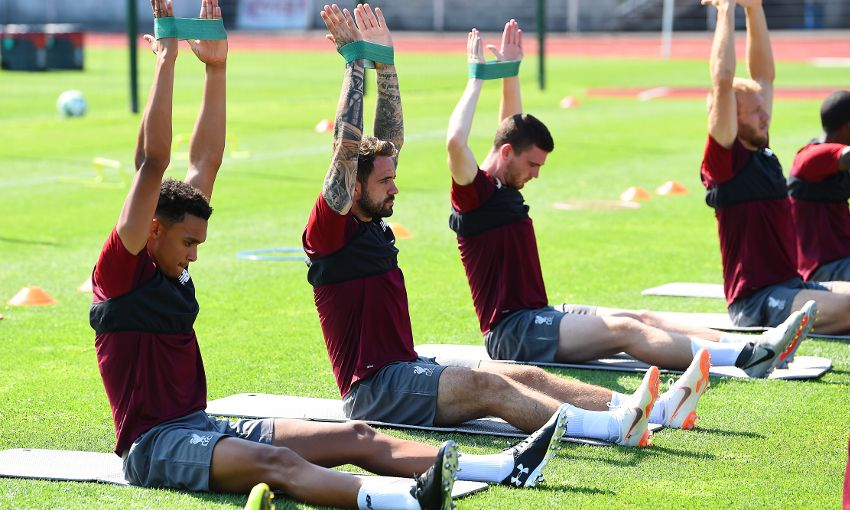 Liverpool train in Evian, France.