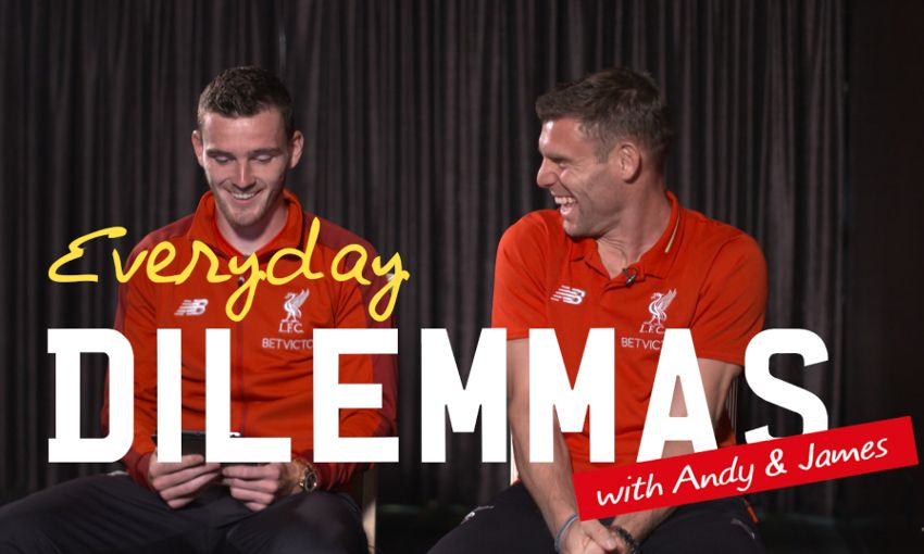 Video: Everyday dilemmas solved by Milner and Robbo - Liverpool FC