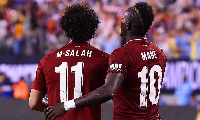 Mohamed Salah and Sadio Mane of Liverpool FC