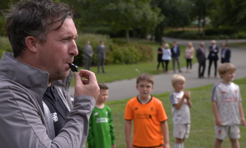 Robbie Fowler visits LFC Foundation Open Goals