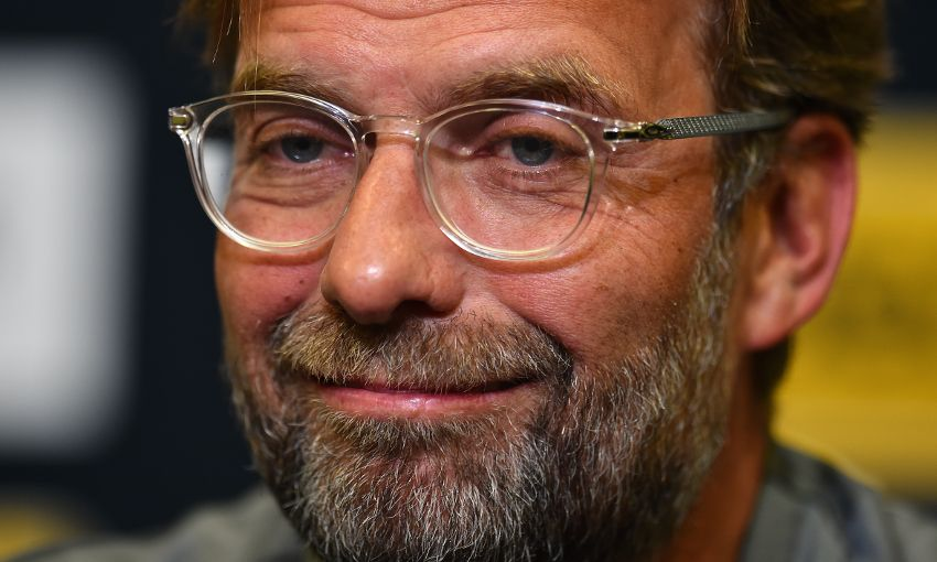 Jürgen Klopp speaks at a press conference