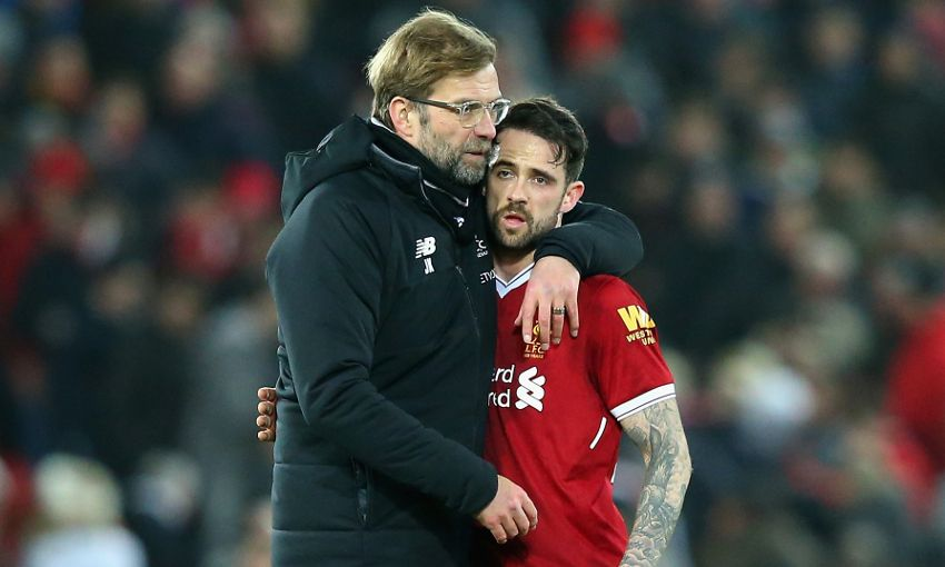 Jürgen Klopp and Danny Ings