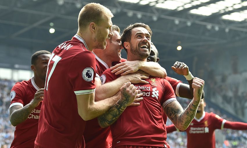 Danny Ings celebrates a goal for Liverpool