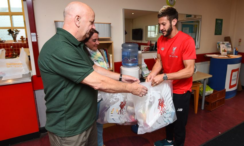 Lallana Visits North Liverpool Foodbank And Urges Fans To