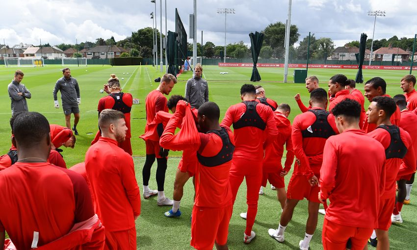 Liverpool train at Melwood on August 10