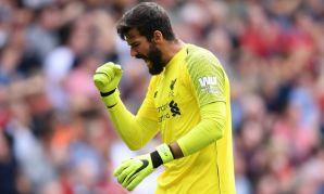 Liverpool goalkeeper Alisson at Anfield