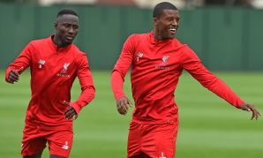 Liverpool train at Melwood