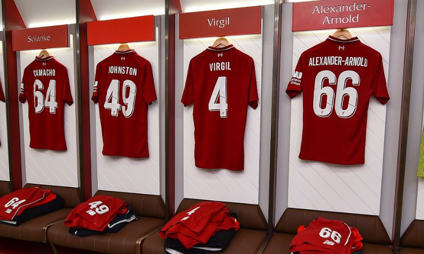 Anfield's home dressing room ahead of Liverpool FC v Torino
