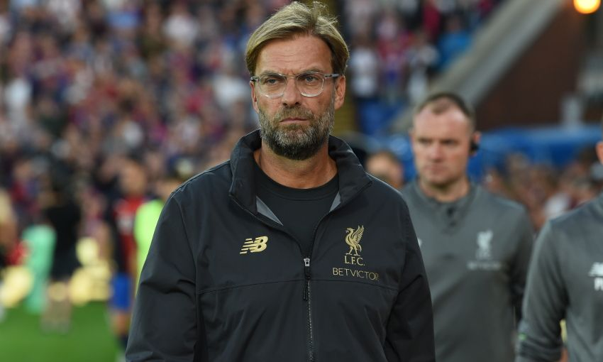 Jürgen Klopp, Liverpool manager, at Crystal Palace