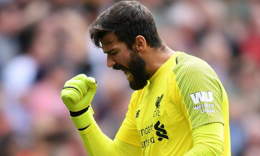 Liverpool FC goalkeeper Alisson Becker