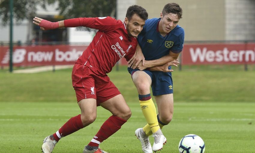 Liverpool U23s v West Ham United at the Academy