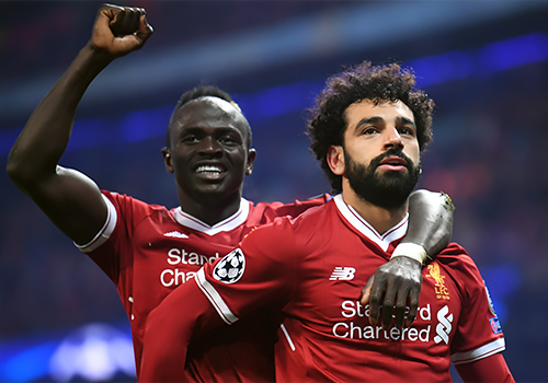 Liverpool forwards Sadio Mane and Mohamed Salah