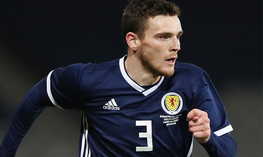 Liverpool's Scotland international Andy Robertson