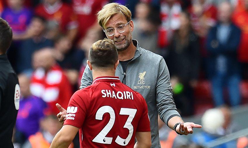 Liverpool midfielder Xherdan Shaqiri