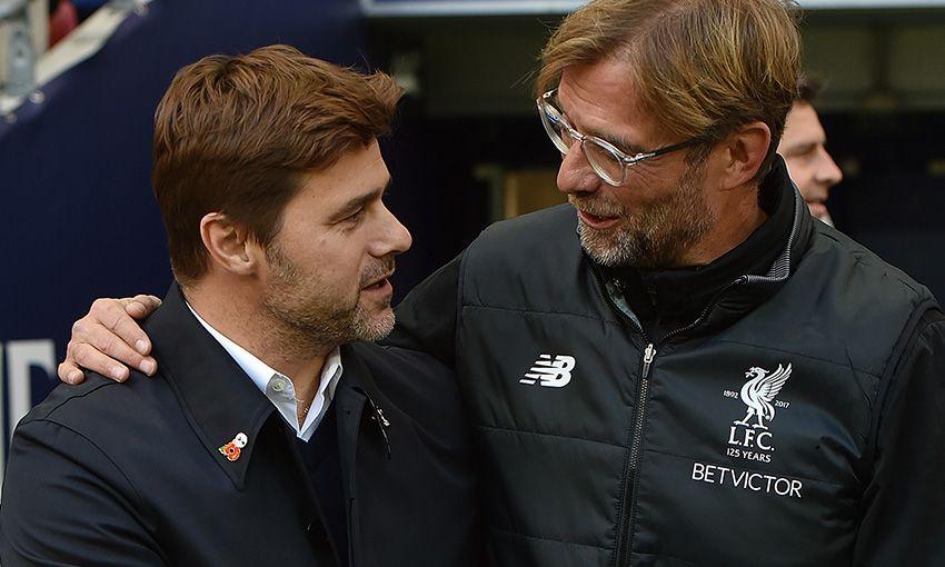 Tottenham Hotspur manager Mauricio Pochettino and Liverpool boss Jürgen Klopp