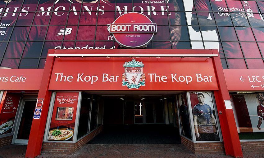 Anfield's new Kop fan bar