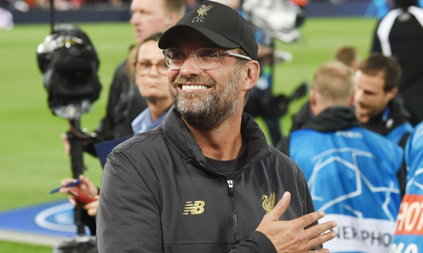 Jürgen Klopp, Liverpool FC manager, before Champions League meeting with PSG at Anfield
