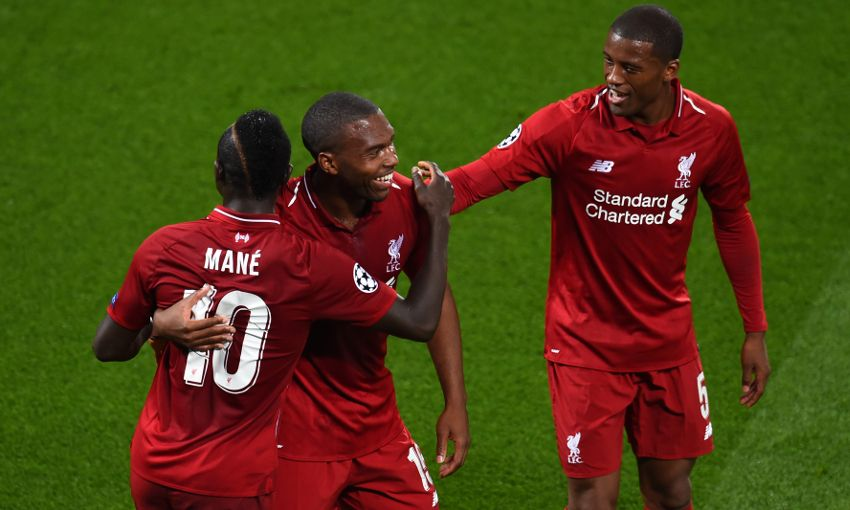Daniel Sturridge celebrates a goal for Liverpool