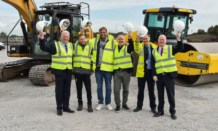 Jürgen Klopp at 'breaking ground' ceremony at the club's Academy in Kirkby