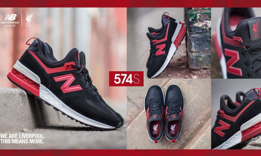 100% authentic 70d06 9e46e Introducing: LFC x New Balance 574 Sport trainers - Liverpool FC