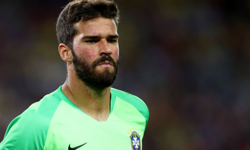 Alisson Becker of Liverpool FC and Brazil