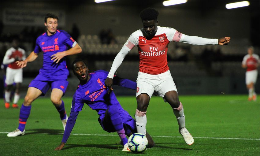 Liverpool U23s versus Arsenal in Premier League 2, September 2018