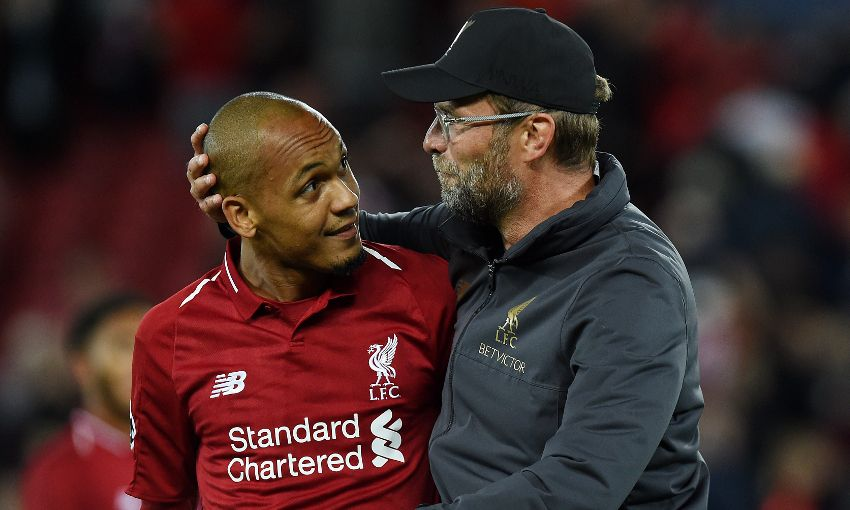 Jürgen Klopp and Fabinho