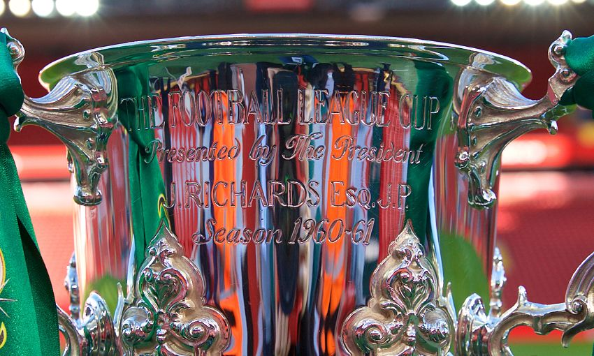 Generic image of the League Cup at Anfield