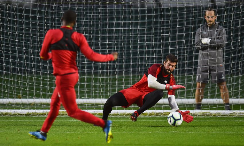 Liverpool train at Melwood on September 27