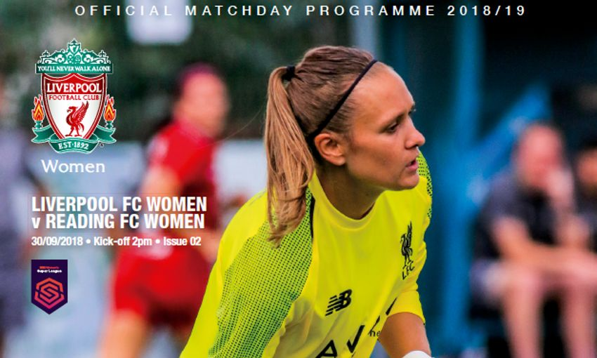 pick up your lfc women s programme v reading liverpool fc