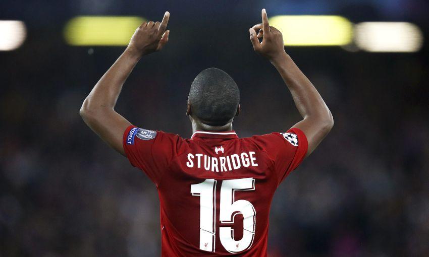 Daniel Sturridge celebrates