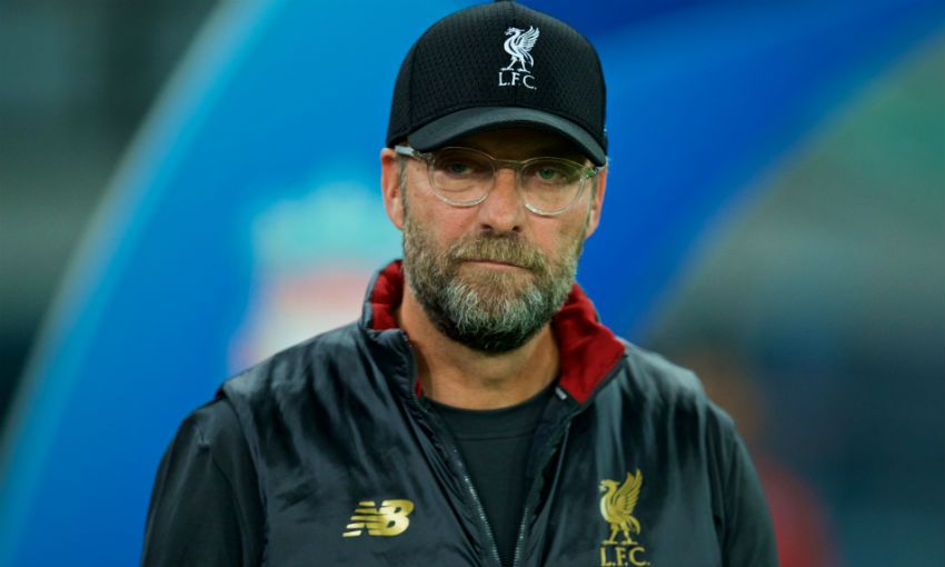 Jürgen Klopp, manager of Liverpool FC, at Napoli's Stadio San Paolo