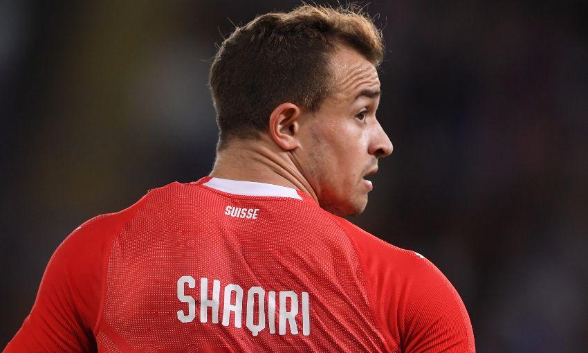 Xherdan Shaqiri in action for Switzerland