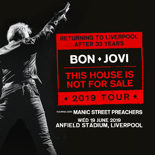 Tickets on sale now: See Bon Jovi at Anfield in 2019