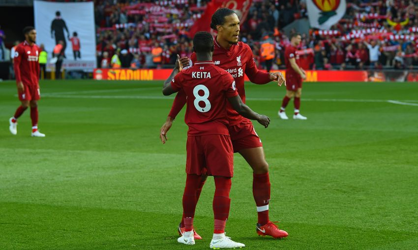 Virgil van Dijk at Anfield